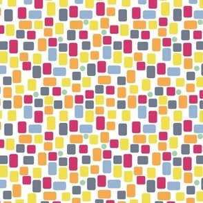 colorful irregular rectangles on white