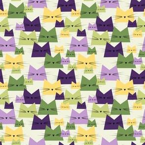 small scale cats - nala cat lavender - geometric cats