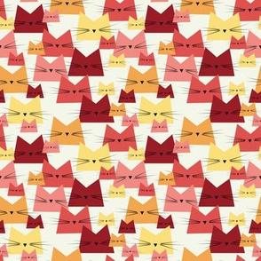 small scale cats - nala cat cherry - geometric cats