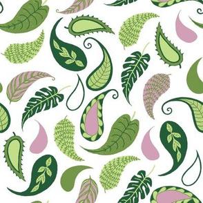 paisley pattern leaves