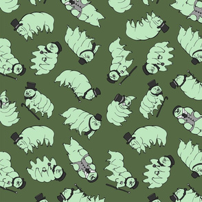 Tardigrades in Tophats - Mint/Army Green