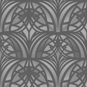 light gray Art Deco med