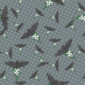 bats on grey