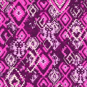 Ikat Aztec Dimaonds - pink purple lilac
