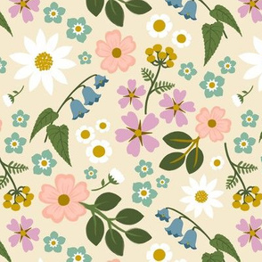 Wildflower Ditsy -Cream