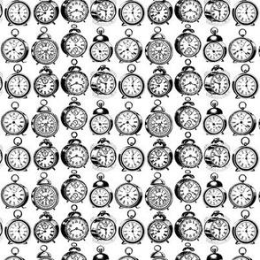 Antique Alarm Clocks Vintage Art Pattern (Mini Scale)
