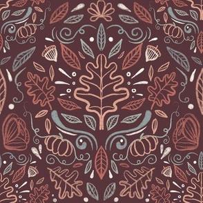 Garden of the season- maroon