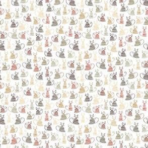 small scale cats - duke cat roycroft - hand drawn cats