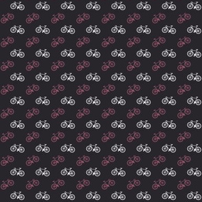 Bicycle Print - Mauve Pink - Small