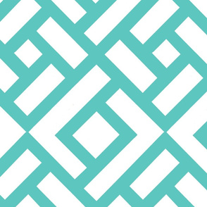 """CHINESE CHIPPENDALE 12"""" turquoise 2"""