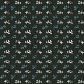 Bicycle Print - Teal - Small