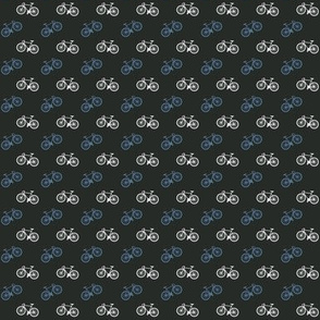 Bicycle Print - Blue - Small
