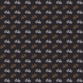 Bicycle Print - Orange Brown - Small