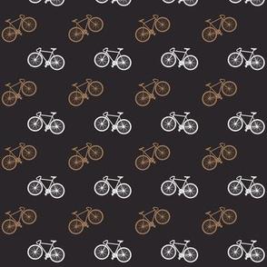 Bicycle Print - Orange Brown