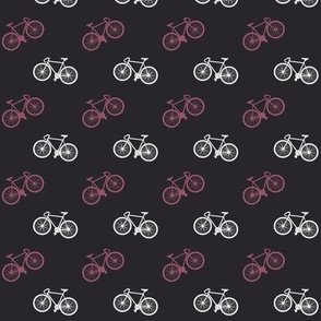 Bicycle Print - Mauve Pink