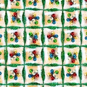 Christmas Tinsel Check 1 Multi Vintage 150 12