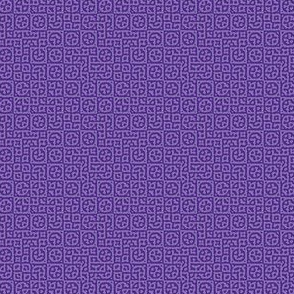 tiny circles in squares in purple - Turing pattern 6