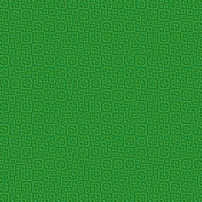 tiny circles in squares in green - Turing pattern 6