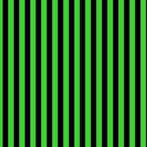 Lime Green Bengal Stripe Pattern Vertical in Black