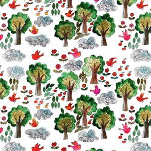 amour d'oiseau dans la forêt