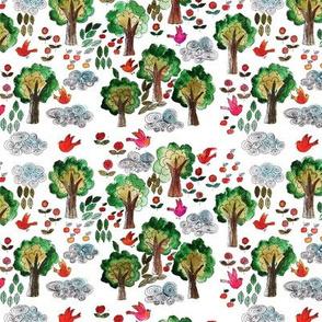amour d'oiseau dans la forêt M