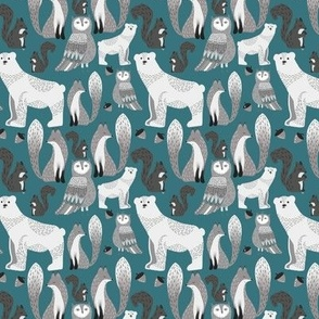 Woodland Critters Teal
