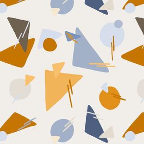 Geometric shapes off white