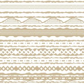Beige boho winter pattern