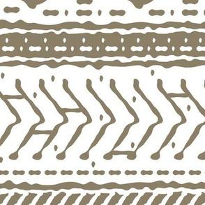 Brown tribal white hand drawn pattern