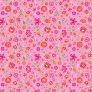 Pink Chintz Flowers