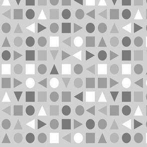 Soft Greys - Small Scale Geometric