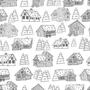 03118houses-patterns-black