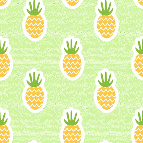 Summer pineapple seamless pattern