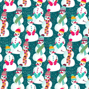 snowman woolen fashion // teal // small scale