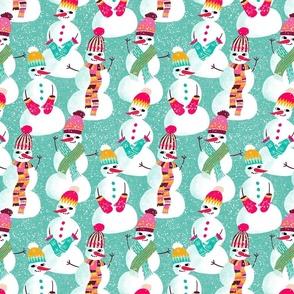 snowman woolen fashion // mint // small scale
