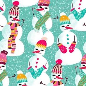 snowman woolen fashion // mint // medium scale