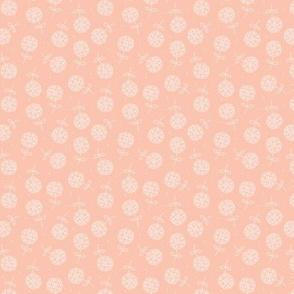 Little dandelion hearts spring blossom boho nursery design pale blush pink SMALL