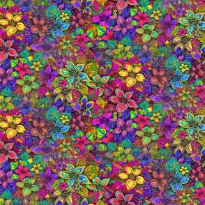 SEAMLESS FLOWERS MISH MASH ORIGINAL PSMGE