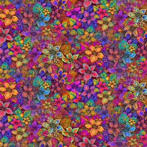 SEAMLESS FLOWERS MISH MASH ALMOST FLAMBOYANT FALL PSMGE