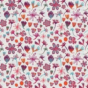 Stripey Daisy Field of Flowers Spring