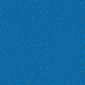 vermicular lines dark blue on blue medium