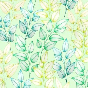 Farah's Leaves Green Green L