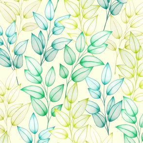 Farah's Leaves Green Yellow L