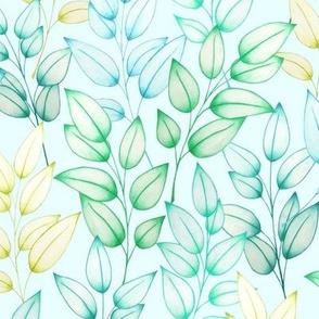 Farah's Leaves Blue Blue M
