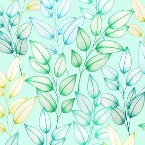 Farah's Leaves Blue Mint M