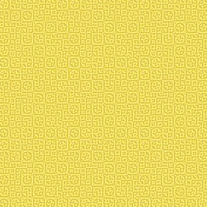 tiny circles in squares in yellow - Turing pattern 6