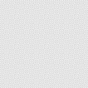 tiny circles in squares in pale grey - Turing pattern 6