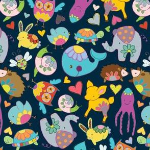 Floral Fauna Fabric