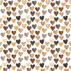 Black Lives Matter Brown Skin Color Hearts - Small Scale