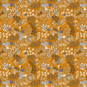 Wild flowers dark orange